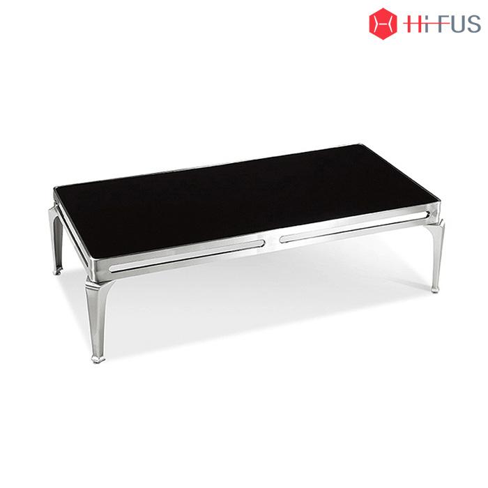 GST-0012 블랙 강화유리 소파 탁자