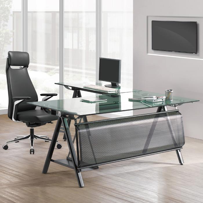 GSD-620 연그린 유리 책상 사이드형