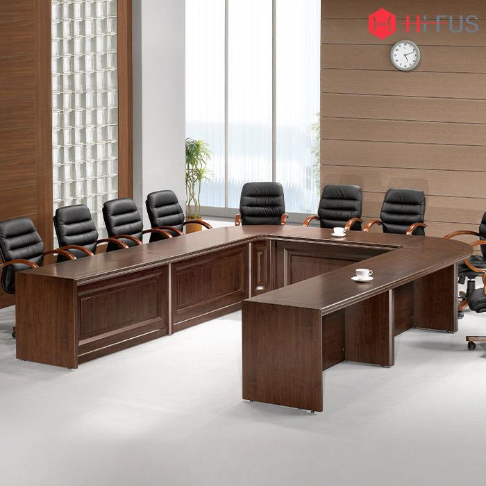 WNT 연결식(조합형) 회의용 탁자(ㄷ자형)-배선타입