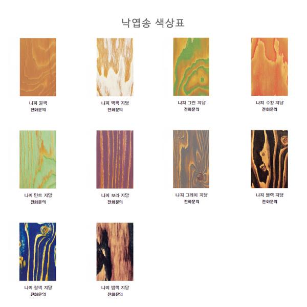 낙엽송 색상표