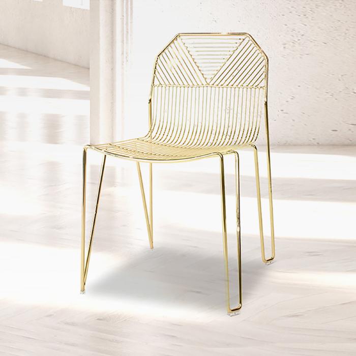 ZA 클레오/인테리어 식탁 의자 카페 디자인 골드 체어