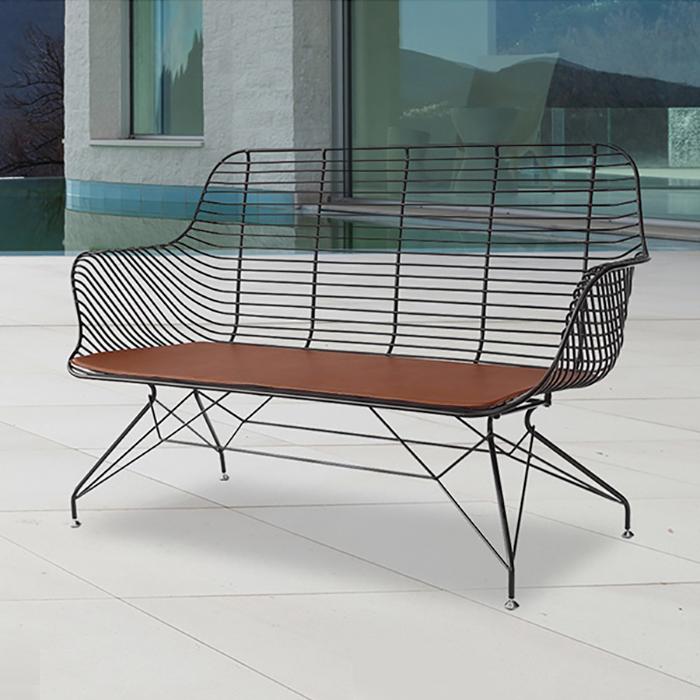 ZA 아테네/인테리어 디자인 2인 벤치 의자 카페 체어