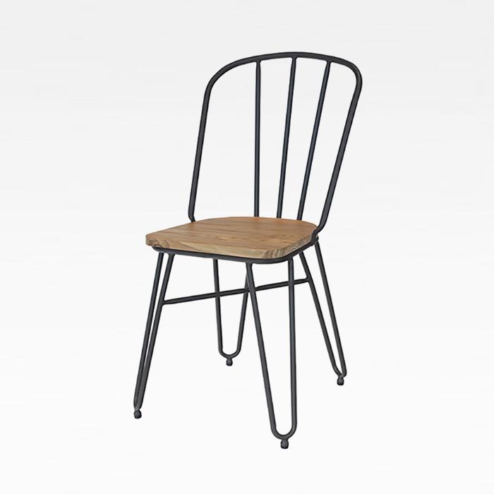 ZA 클립/인테리어 디자인 식탁 의자 카페 메탈 체어